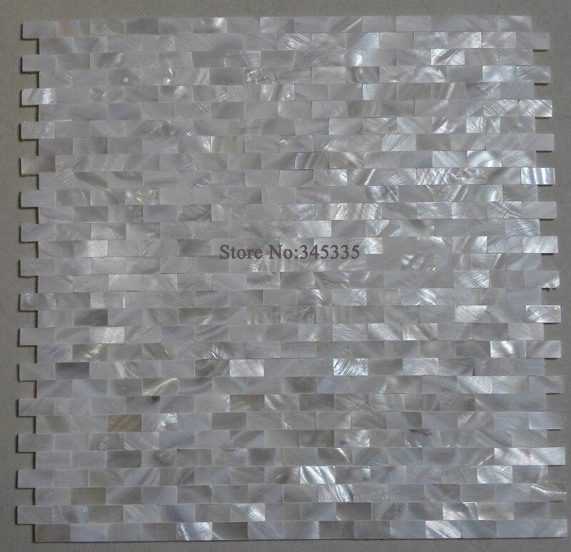 Carreaux De Mosaique Mere De Perle Brique Blanche Pure Carrelage De Cuisine Dosseret De Cuisine Cuisine Coquille D Eau Douce Papier Peint Salle De Bains Aliexpress