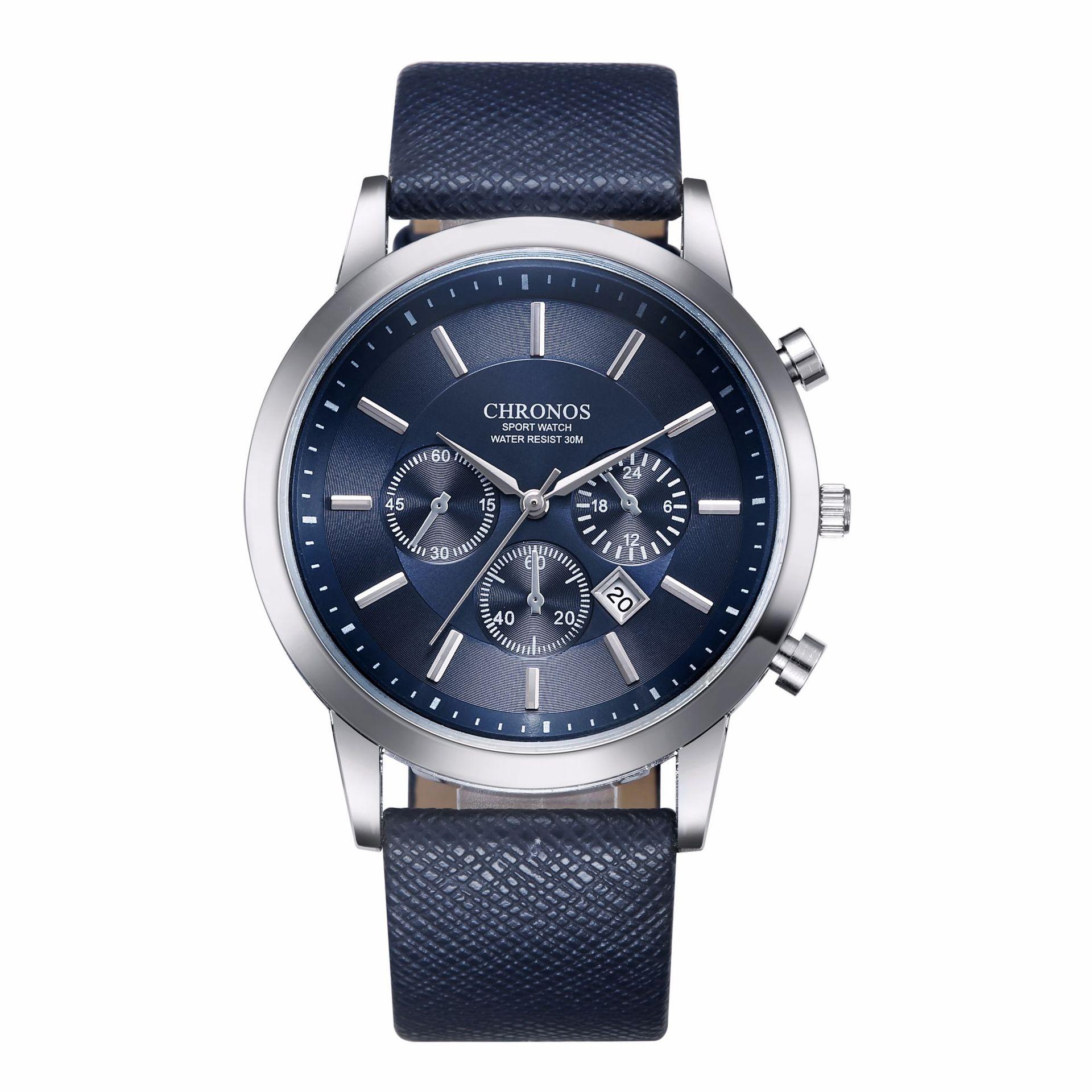 Relojes Hombre 2017 Brand Decorative Men Watch Small Three-pin Mens Belt Watch Classic Business Calendar Watch For Men