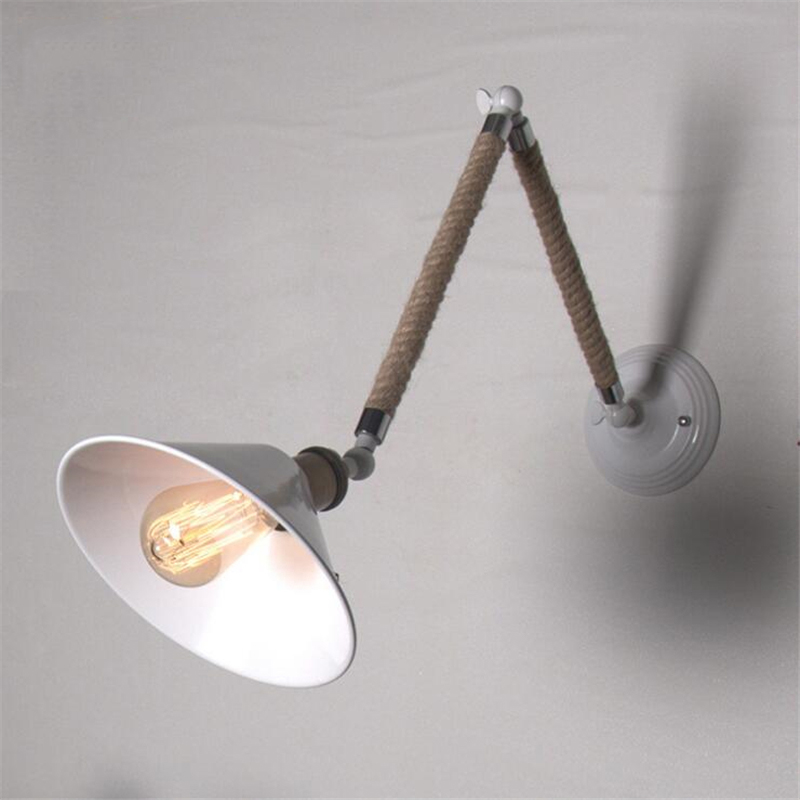 Loft Retro Industrial Aisle Wall Lamp Stairs Corridor Balcony Simple Creative Restaurant Bar Iron Hemp Rope Lamp Free Shipping personality creative rope restaurant wall light simple pastoral iron retro wall lamp double section turner lighting