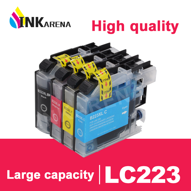 Чернильные картриджи LC 221 XL для принтера Brother LC223 с чипом и полными чернилами для принтера J5720DW J480DW J680DW J880DW DCP-J4120DW J562DW