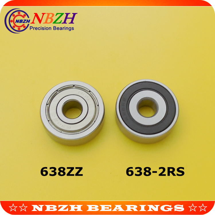 Free shipping  Factory direct sale 638 638ZZ 638Z 638-2RS 638RS 80038 8*28*9 mm High quality deep groove ball bearing 8x28x9mm