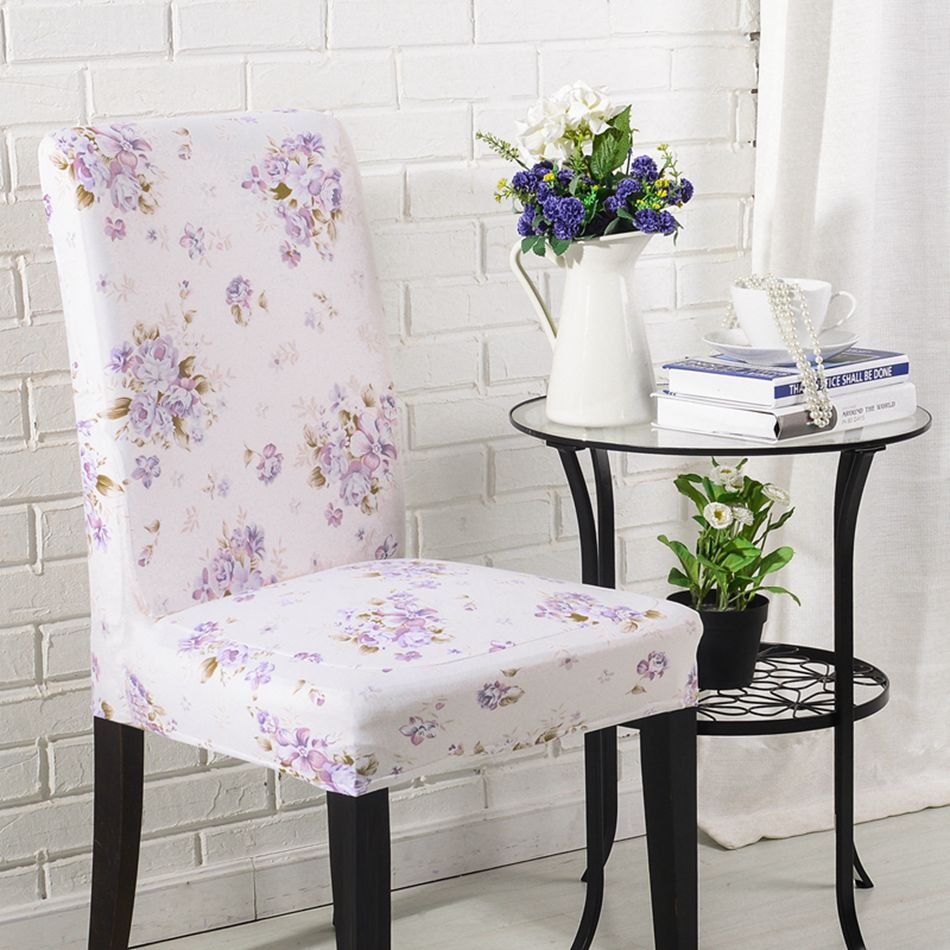 AGTYSY Floral Print Home Dining Chair Cover Elastic Chair Covers Polyester  Elastic Cloth Universal Stretch Office