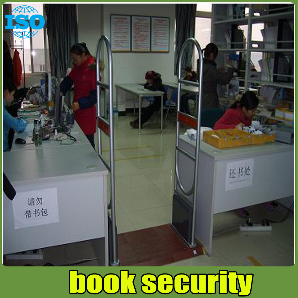 EM technology sound and light alarm eas system ,library anti theft system 2 door and 1 machine free install system hzsecurity electromagnetic system em library anti theft system one aisle