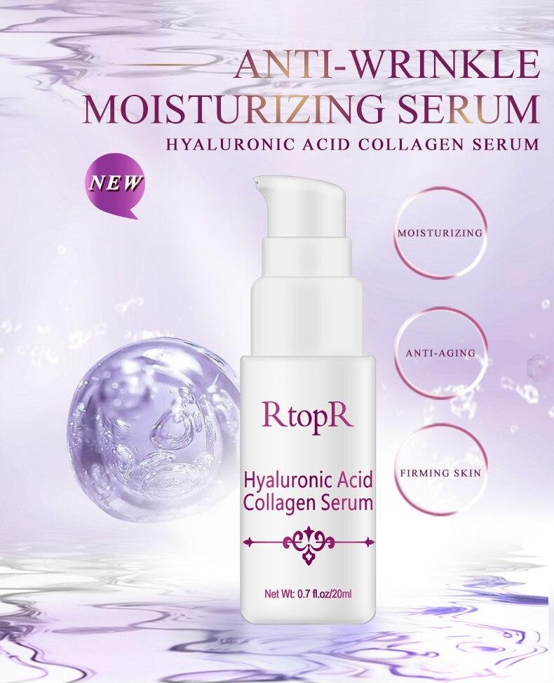 Hyaluronic Acid Serum + VC Snail Serum Collagen Serum Anti-Aging For men and women Moisturizing Skin Care Whitening Brighten 9