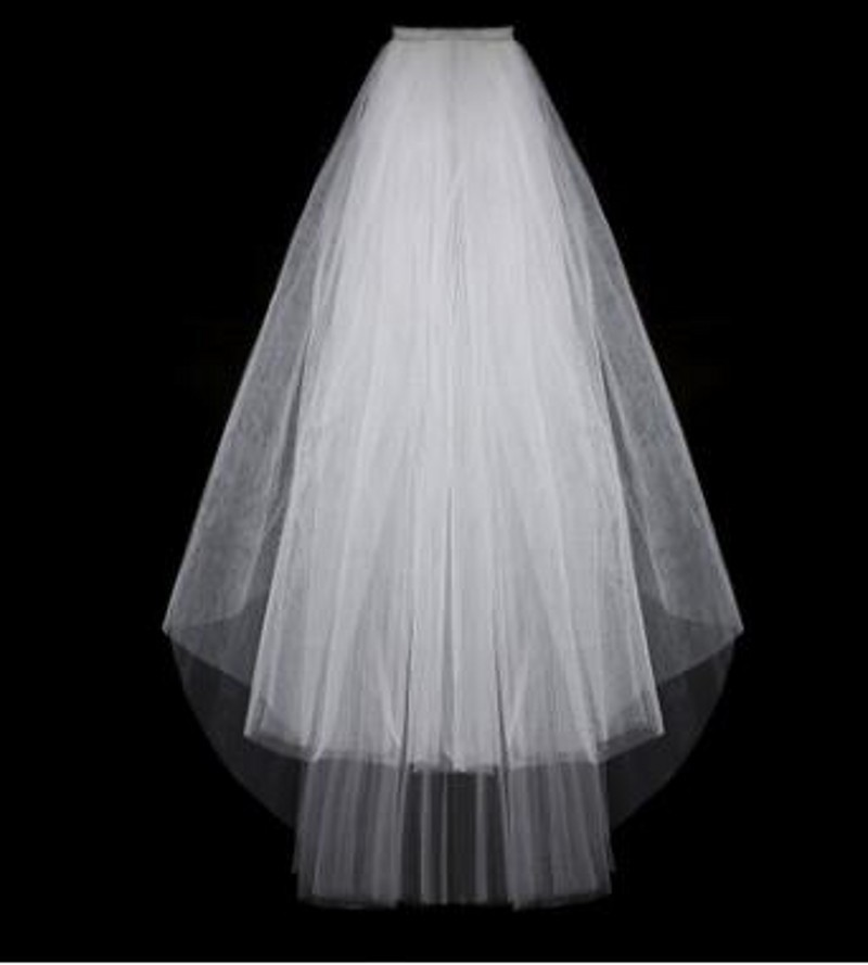 Simple Short Tulle Wedding Veils Cheap 2016 White Ivory Bridal Veil for Bride for Mariage Wedding Accessories 2