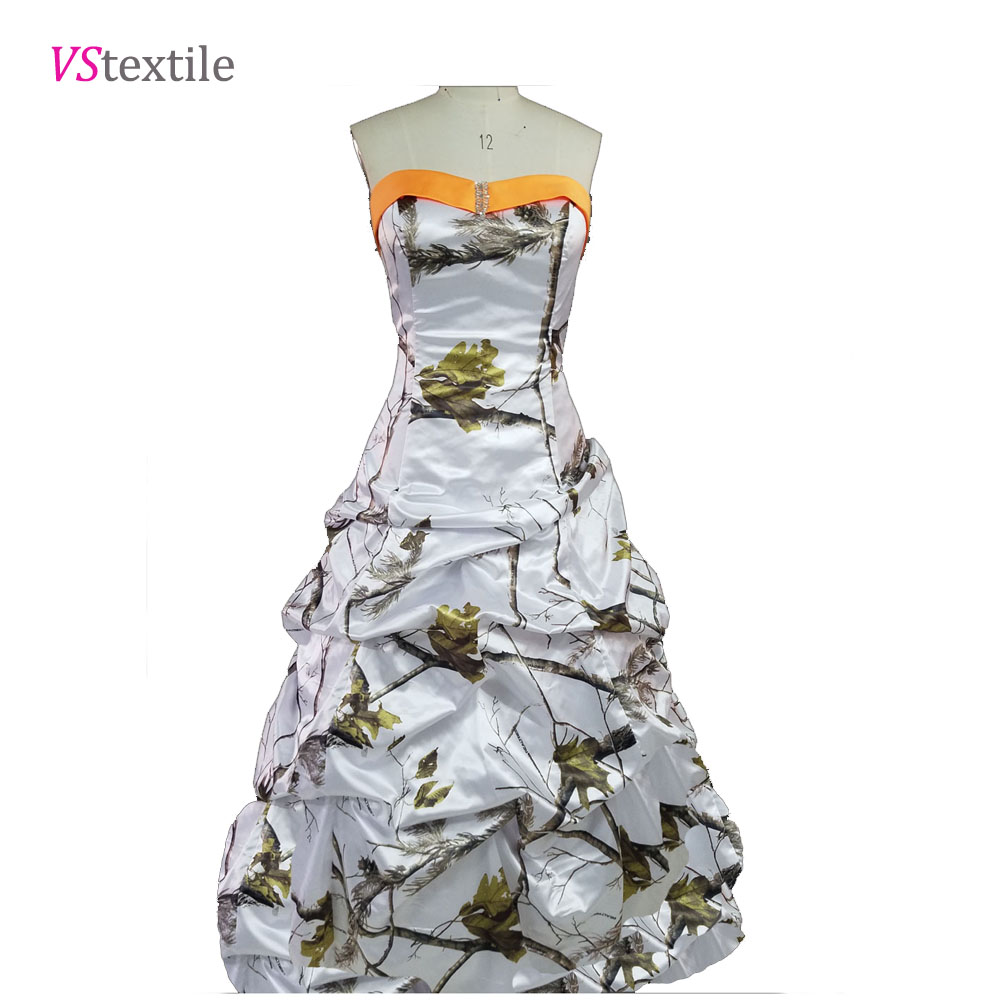 realtree formal snow white camo prom dress 2018 long robe longue women maxi camouflage party gowns