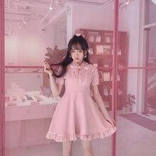 Princess sweet lolita dress Bobon21 sweet girl fake two pieces of stitching bow