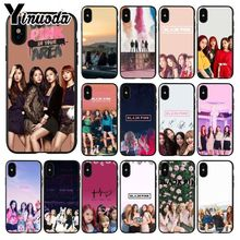 Yinuoda PINK k-pop BLACKPINK kpop Smart Cover Black Soft Shell Phone Case for iPhone 5 5Sx 6 7 7plus 8 8Plus X XS MAX XR