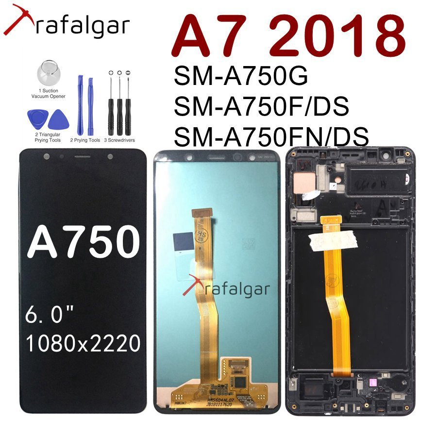 For SAMSUNG GALAXY A7 2018 LCD Display Touch Screen With Frame A750 A750F SM A750F DS
