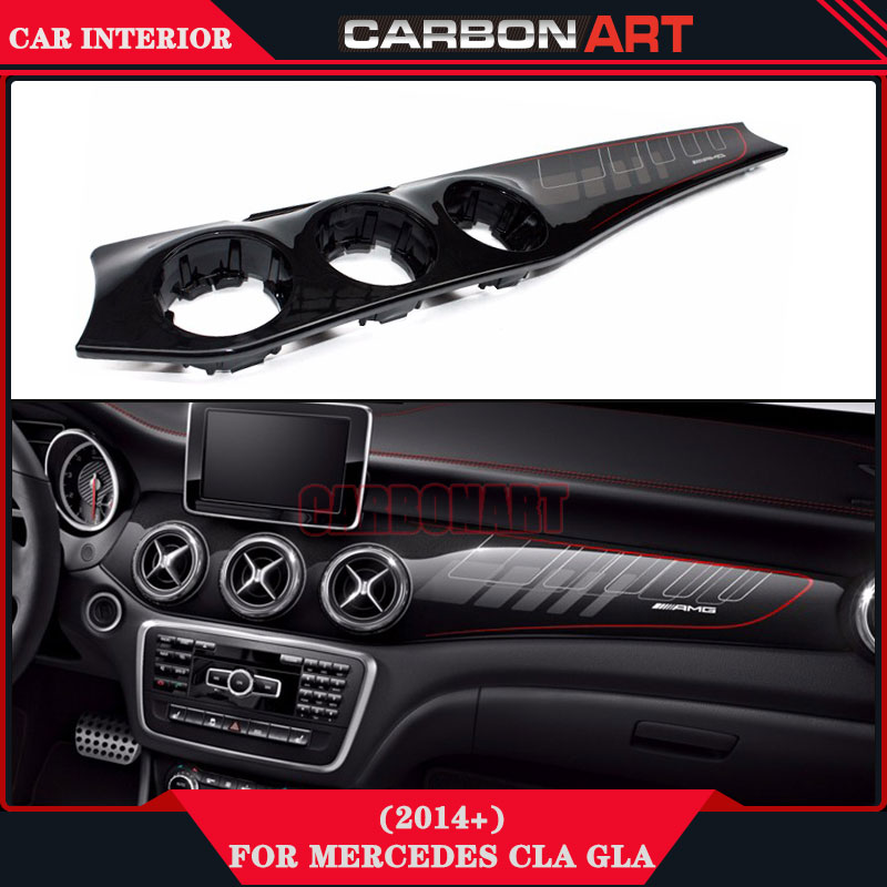 For mercedes cla w117 GLA X156 carbon AMG style replacement interior car stereo installation kits dashboard air conditioner trim mercedes cla w117 amg style replacement cf rear trunk wing spoiler for benz 2013 cla 180 cla200 cla 250