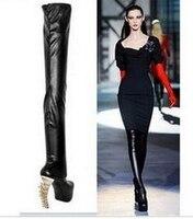 Новинка; Лидер продаж 2017 сексуальные рыбья кость на высоком каблуке вечерние женские обуви для представления без шнуровки выше колена женс