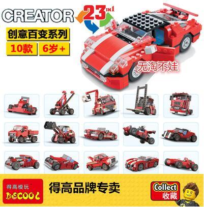 New Decool 3110 Architect Vehicles DIY Race car Truck Block Brick Toy Boy Game Model Car Gift 3 in 1 L5867 Creator kids gift 608pcs race truck car 2 in 1 transformable model building block sets decool 3360 diy toys compatible with 42041