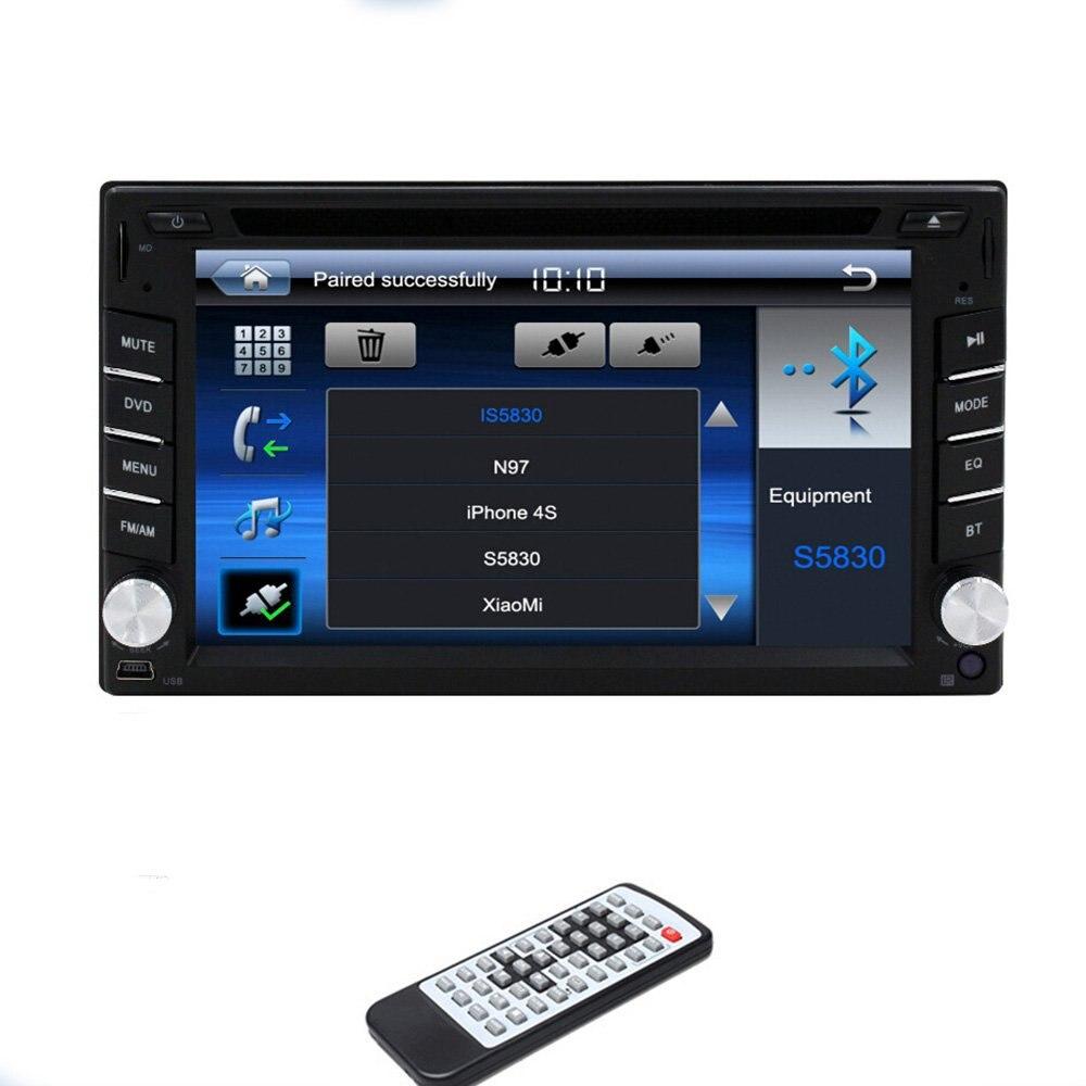 Win 6 System 6.2 Inch 2 Din In Dash Car CD DVD Player