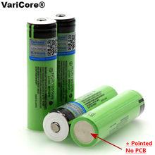 VariCore – batterie Rechargeable au Lithium, avec piles pointues (sans PCB), 3.7 v, 3400 mAh, 18650