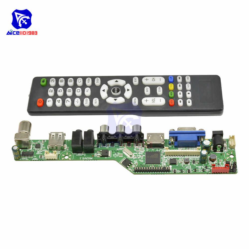 لوحة تحكم LCD عالمية الدقة لوحة تلفزيون VGA HDMI AV TV USB HDMI واجهة سائق وحدة التحكم في محرك الأقراص