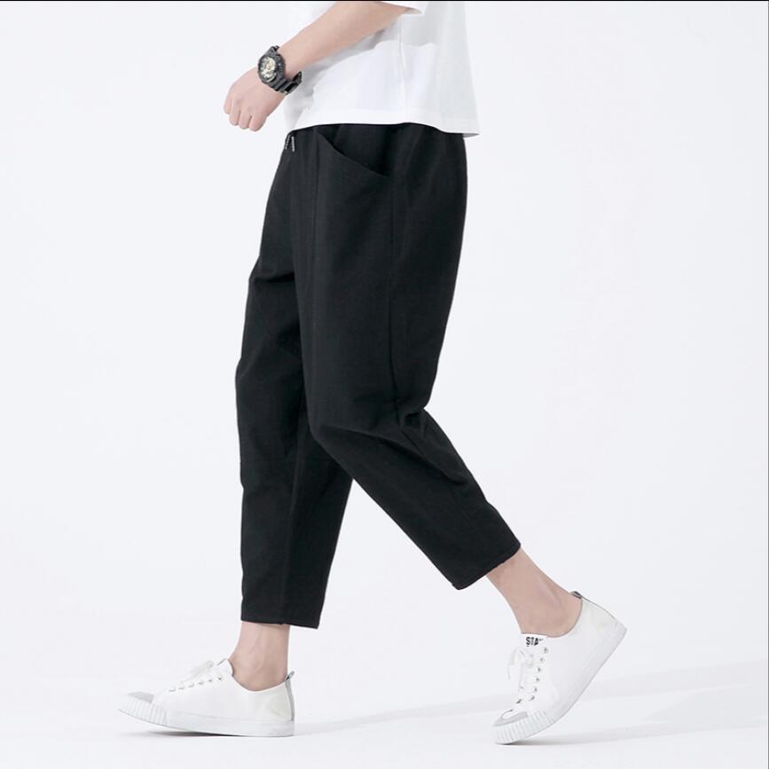 M-5XL 2019 d'été nouvelle pantalons décontractés hommes, plus d'engrais 4XL 5XL grande taille lâche sarouel marée Coréenne coiffeur pantalon