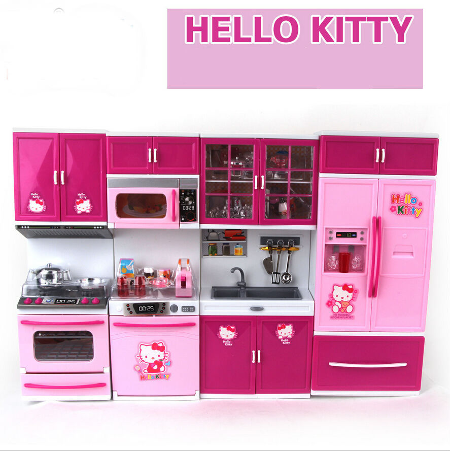 Hello Kitty Kitchen Accessories: Children's Play Toy Gift Hello Kitty Series Baby Happy
