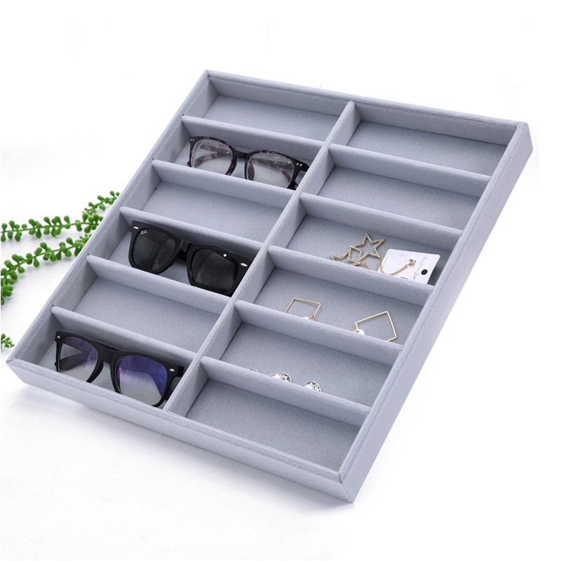 Case Glasses Makeup-Organizer Storage-Box Display Cosmetic 12-Grid Collector Tidy-Tool