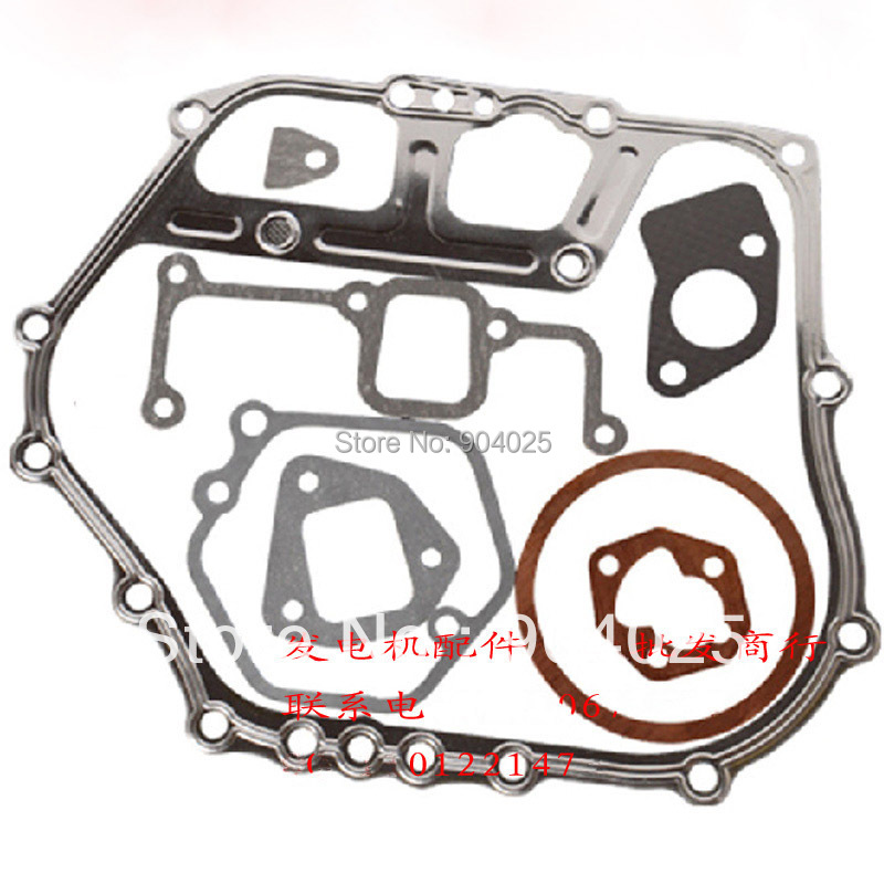 Single-cylinder air-cooled diesel generator parts 5KW/186F or 186FA full  tank gasket cylinder head gasket pad together