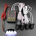 Envío gratis 4 LEDs carro del coche del estroboscópico emergencia Eagle Eye linterna de la luz blanco 4 W