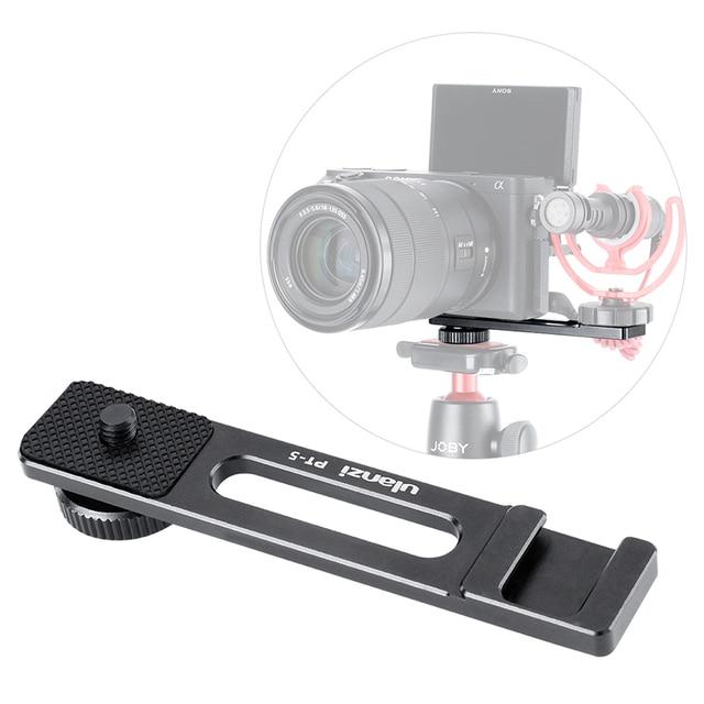 Ulanzi PT 5 Vlogging Mikrofon Halterung Ständer Verlängerung Bar Platte mit Kalten Shoe1/4  20 Stativ Loch für sony A6400 Video Vloggers