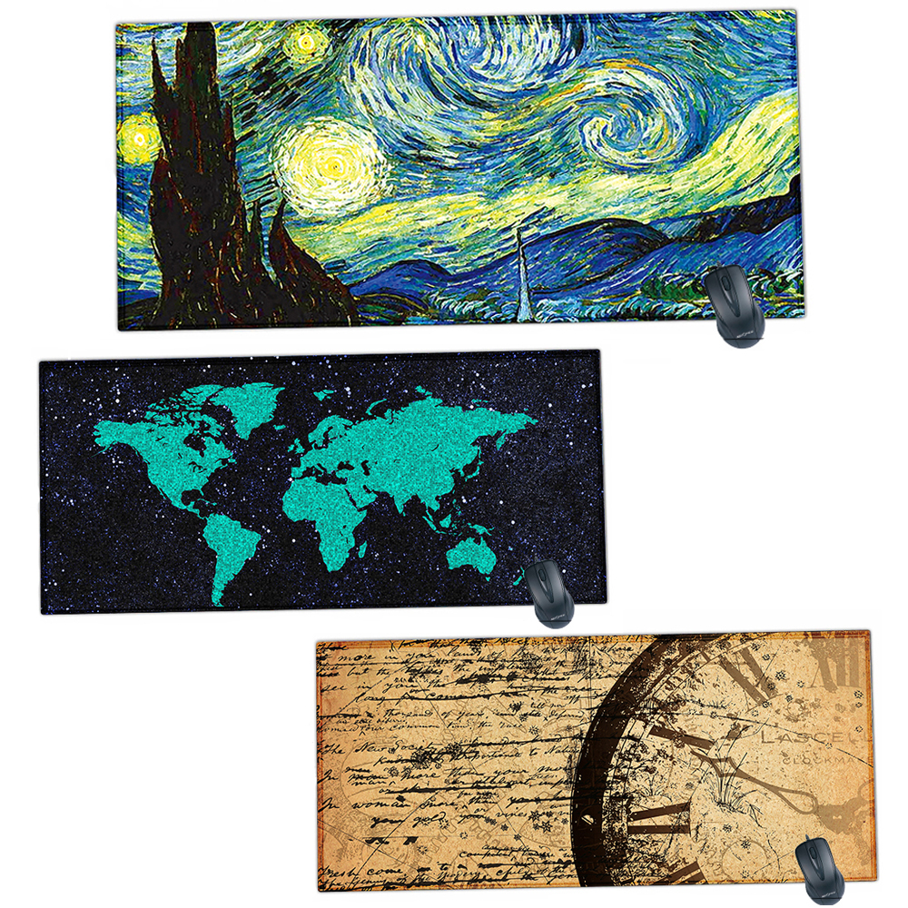 4e524e9b888 Rubber DIY Mouse Pad Mat Gaming Custom Mousepad XL 90 X 40 cm Keyboard Mat  Computer Mousepad World Map Desk Mat For cs go LOL