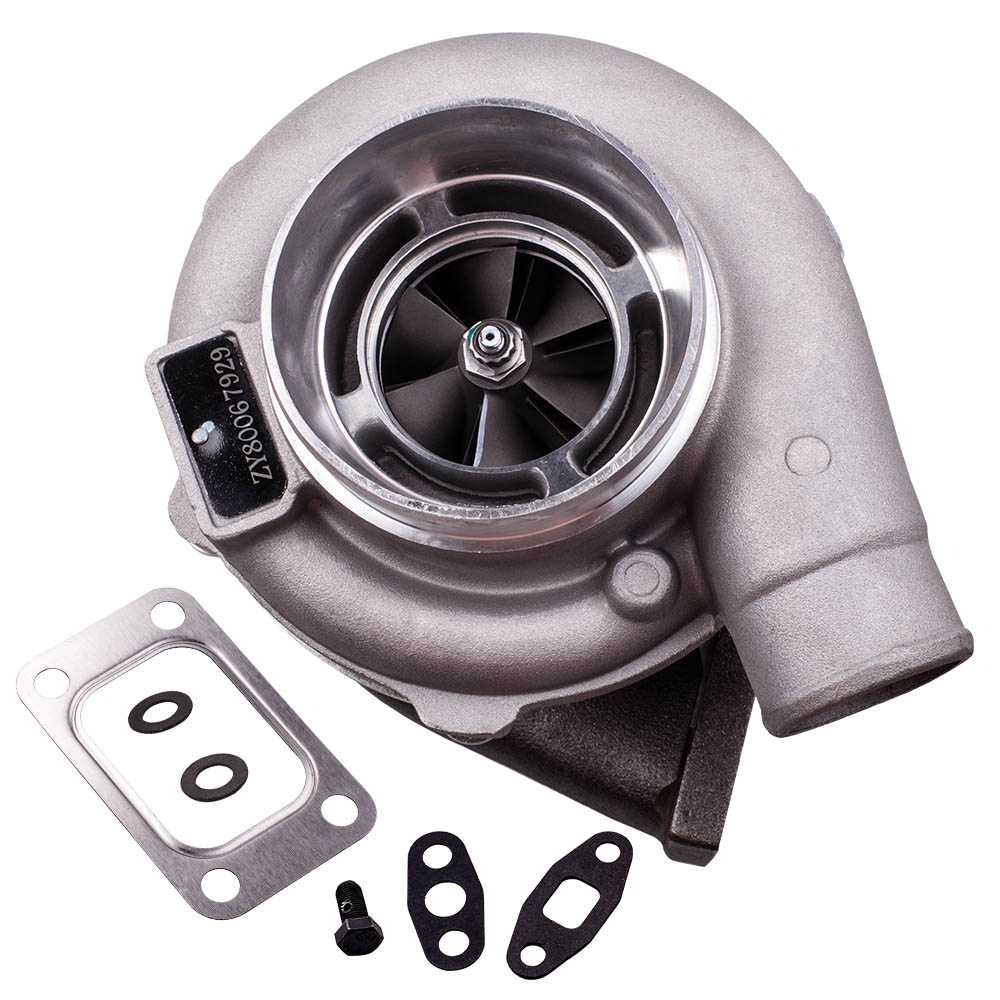 Image 2 - GT30 GT3037 GT3076 T3 Flange Water Cooled Turbocharger For all 6 8 cyl engine T3.82A/R 51 TRIM POLISHED TURBO CHARGER GT30 500HPTurbo Chargers & Parts   -