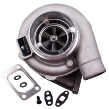 GT30 GT3037 GT3076R T3.82 A/R 51 TRIM POLISHED TURBO CHARGER GT30 500+HP T3 Flange External Wastegate Water Cooled Charger