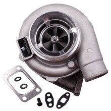 Gt30 gt3037 gt3076r t3.82 a/r 51 guarnição polido turbo carregador gt30 500 + hp t3 flange wastegate externo água de refrigeração carregador