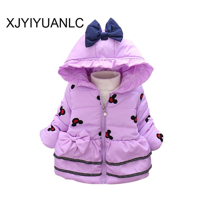 Girls Outerwear New Winter children clothing Baby girls cotton warm jacket Kids warm vest coat for 1-4 years Baby Hooded Jackets new girls fashion vest autumn children clothing baby girls cotton printing animals tops vest kids clothes hooded coat jacket