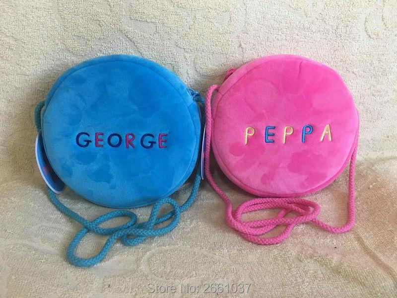 1pcs-16CM-Genuine-plush-pig-bag-Pink-Peppa-Pig-George-Backpack-high-quality-hot-sale-Animal-satchel-For-Childrens-haversack-1