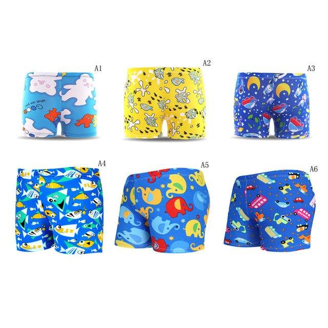 80fa3238b7 1PC Beach Holiday Board Trunks Shorts Football New Kids Boys Cartoon  Swimwear Animal Print Baby Boys Swimming Pants Briefs