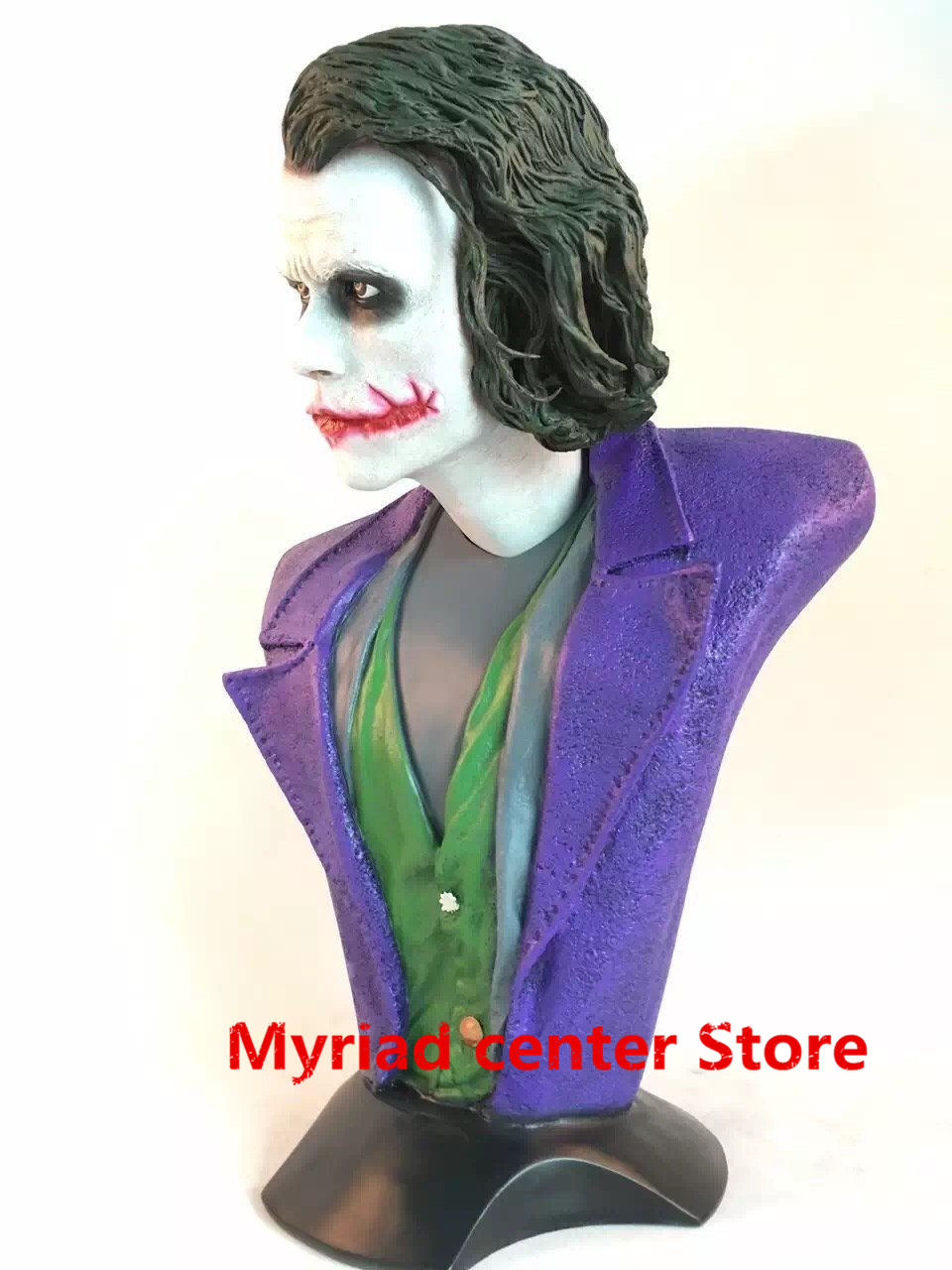 Statue Avengers Batman: The Dark Knight 1:1 Bust Joker (LIFE SIZE)Half-Length Photo Or Portrait Resin Head portrait Model Avatar statue avengers captain america 3 civil war iron man tony stark 1 2 bust mk33 half length photo or portrait with led light w216