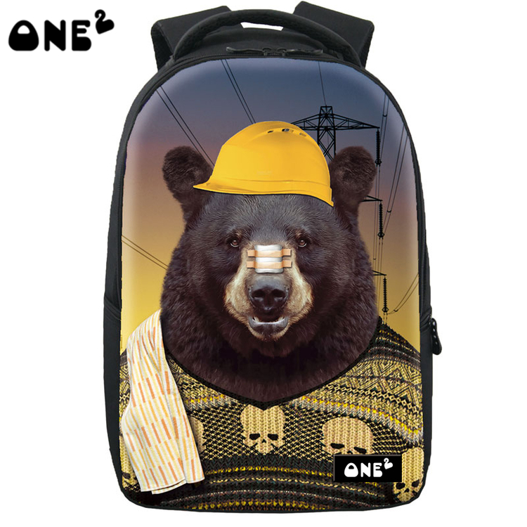 ONE2 Design grizzlies pattern backpack brand new design laptop backpack high school students teenager boys girls kid children one2 design colorful 600d polyester school bag laptop backpack ice cream for university students women man teenager boys girls