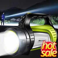 SHENYU Super Bright กลางแจ้งแบบพกพา USB ไฟฉายชาร์จไฟฉาย Searchlight Multi-function Long Shots หลอดไฟ