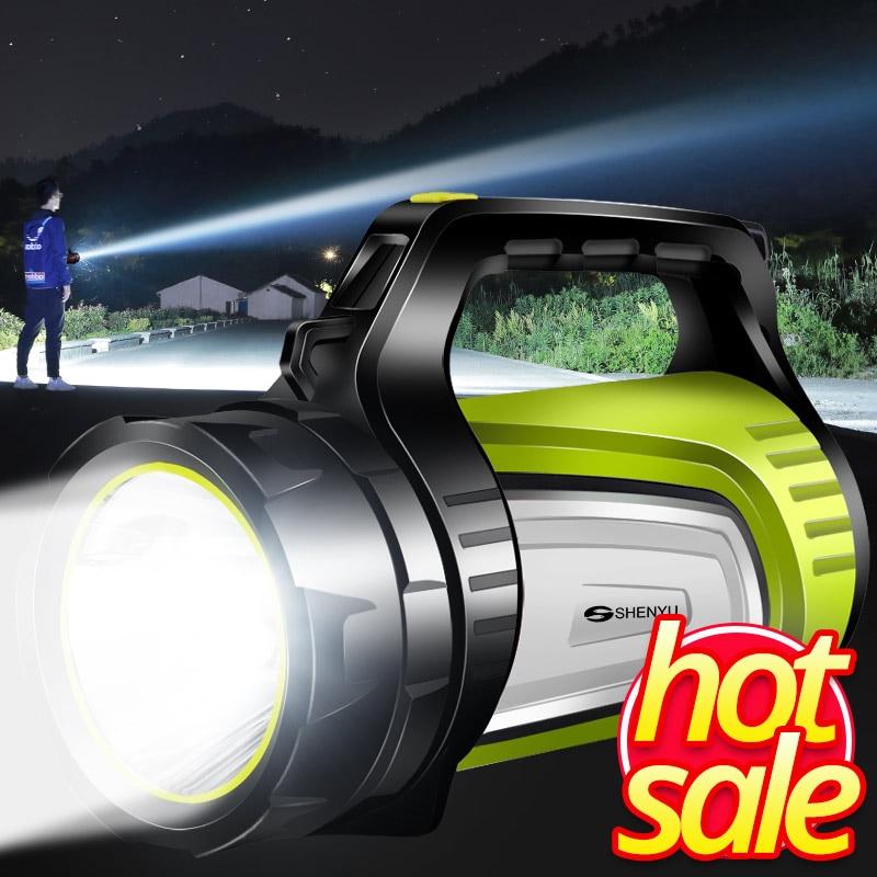 ColeccióN Aquí Shenyu Super Brillante Al Aire Libre Portátil Usb Linterna Recargable Linterna Reflector Multi-función Lámpara De Fotos Largas Precio Razonable