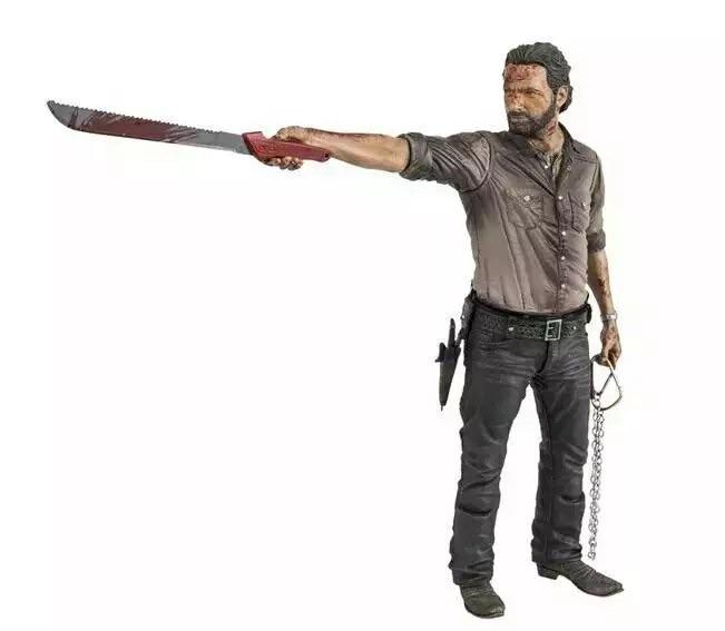 ФОТО  McFarlane Figurine Sheriff Rick Grimes Machetes Gun  Terror TV Series AMC The Walking Dead 25CM  Action Figure