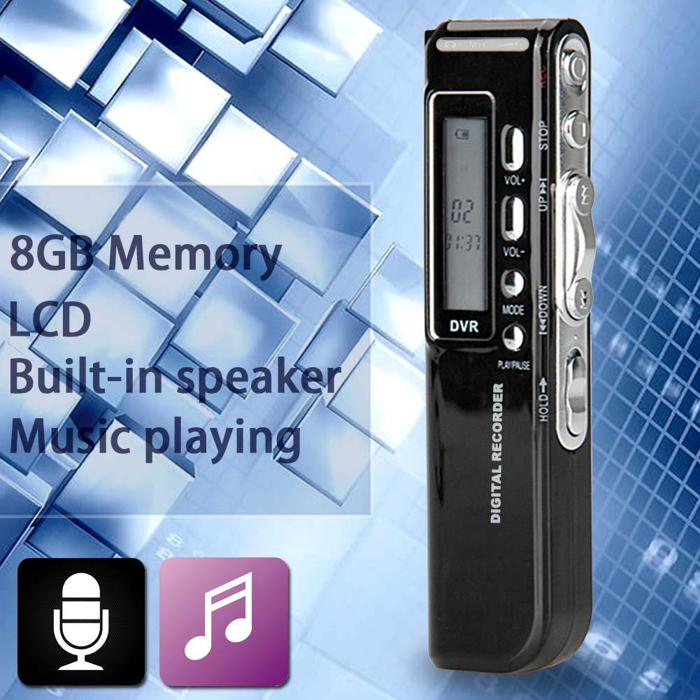 8GB 650Hr USB LCD Screen Digital Audio Voice Recorder Dictaphone MP3 Player A273 1 6 screen digital voice recorder mp3 player black 8 gb