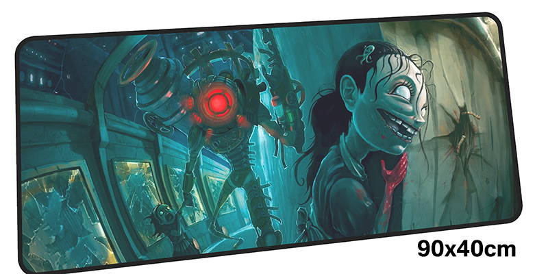 bioshock mousepad gamer 900x400X3MM gaming mouse pad large Mass pattern notebook pc accessories laptop padmouse ergonomic mat