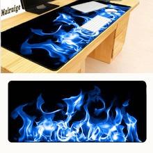 Mairuige Drop Shipping Green Fire XL Big Game Mouse 900* 400 Black Edge Lock Mousepad Keyboard Mat Table Mats