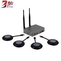Беспроводной ТВ карты Трансмиссия Экран Мониторы 1080 P Wi Fi Дисплей конференции Мониторы Box Miracast DLNA все разделяют литой USB 4 способ