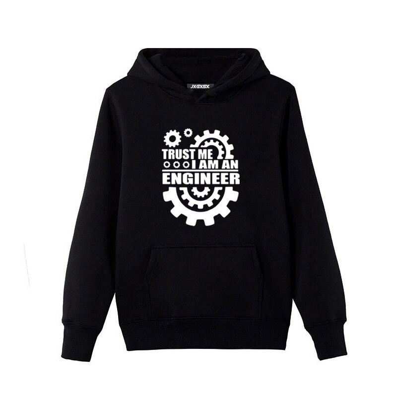 Мода 2017 осень-зима Толстовки Мужская одежда поверьте мне Юмор Я инженер забавная Graphic Sweatshirt хип-хоп Для мужчин Толстовки