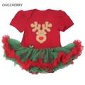 0-12 M Bebé Rojo Del Mameluco de Navidad Ciervos Recem Fantasías Infantiles Nacidos Bebe Infantil Macacão Ropa de Navidad Para Niños traje