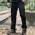 2016 Marca Pantalones Para Hombre Otoño Invierno Pantalones Deportivos Pantalones Casuales de Algodón Negro de Los Hombres de Moda Hombre Pantalones De Ajuste de Alimentación Recta MK-788C