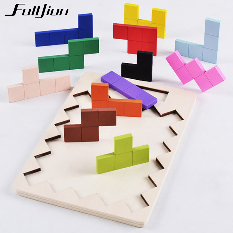 Fulljion Puzzle Game Wooden Toys Math Learning Education Montessori Toys For Children 3D Jigsaw Teaser Kid Maze Cubes Busy Board rome arch bridge puzzle education science mechanics diy toy for kid montessori learning education building blocks for children