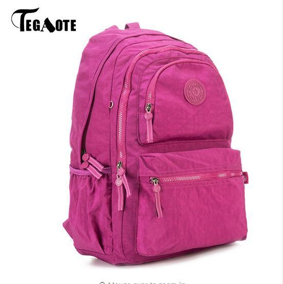 2017 TEGAOTE School Backpack for Teenage Girls Nylon Casual Schoolbag Women Backpack Solid Famous Laptop Bagpack Female Rucksack sunborls brand women big backpack for teenage girl casual back bag schoolbag lady string backpacks female rucksack bagpack