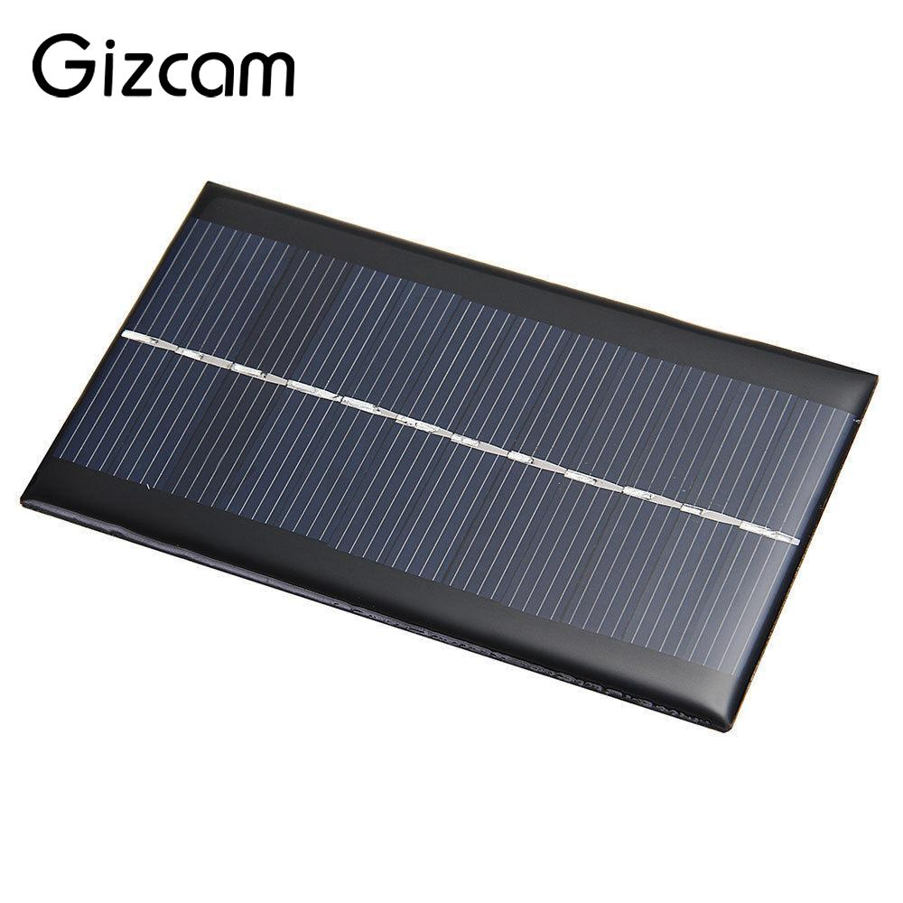 Gizcam Portable Mini 6V 1W Solar Power Panel Solar System Module DIY Home Solar Panel Light Battery Cell Phone Toys Chargers