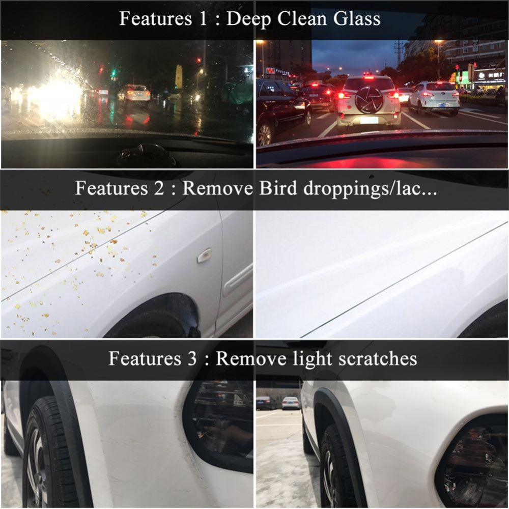 Image 5 - Car Glass Oil Film Scratch Removing Cleaning Washing Sponge Removed Dirt Scratches Grease Resins Repair Sponge Universal-in Grinding Polishing Paste & Liquid from Automobiles & Motorcycles