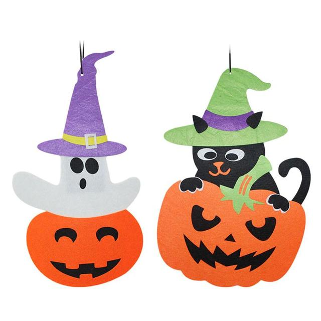 2 Pcs Halloween Suspendus Tag Decoration De Citrouille Pour La