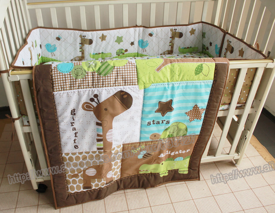 Bedding Sets 3 Pieces Lovely Baby Crib Bedding Set Cute Animal Lion Deer Tree Baby Bedding Set Cot Sheets Cuna Bumper Ropa De Cuna Kit Berco Be Novel In Design Baby Bedding